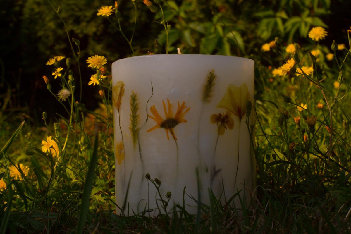 świece naturalne ręcznie robione