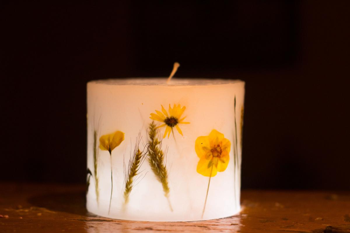 lampiony świece na prezent