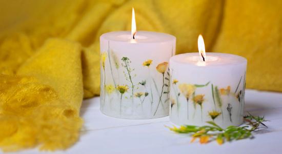 Świece z kwiatami - co zrobić aby długo się paliła